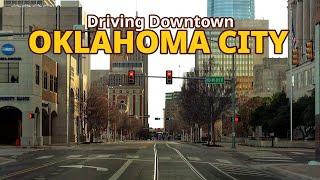 Oklahoma City 4K - Driving Downtown - Oklahoma, USA