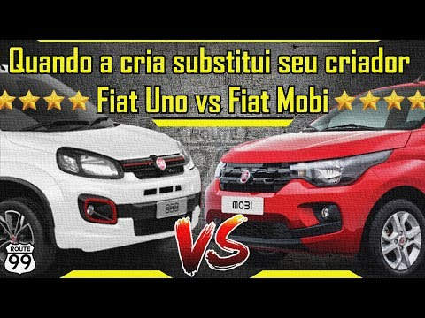 FIAT UNO VS FIAT MOBI - Quando a cria substitui seu criador!