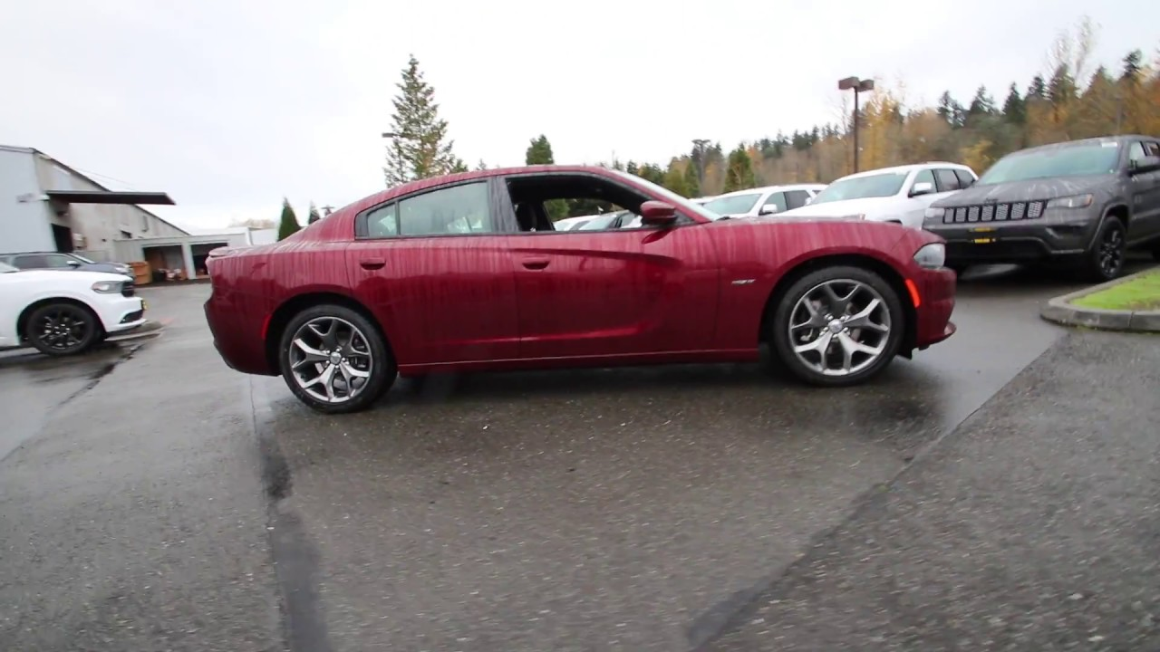 2017 Dodge Charger R T Octane Red Pearlcoat Hh511123 Redmond Seattle