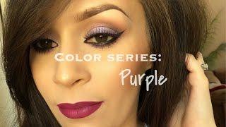 Color series: Purple l Makeup tutorial Thumbnail