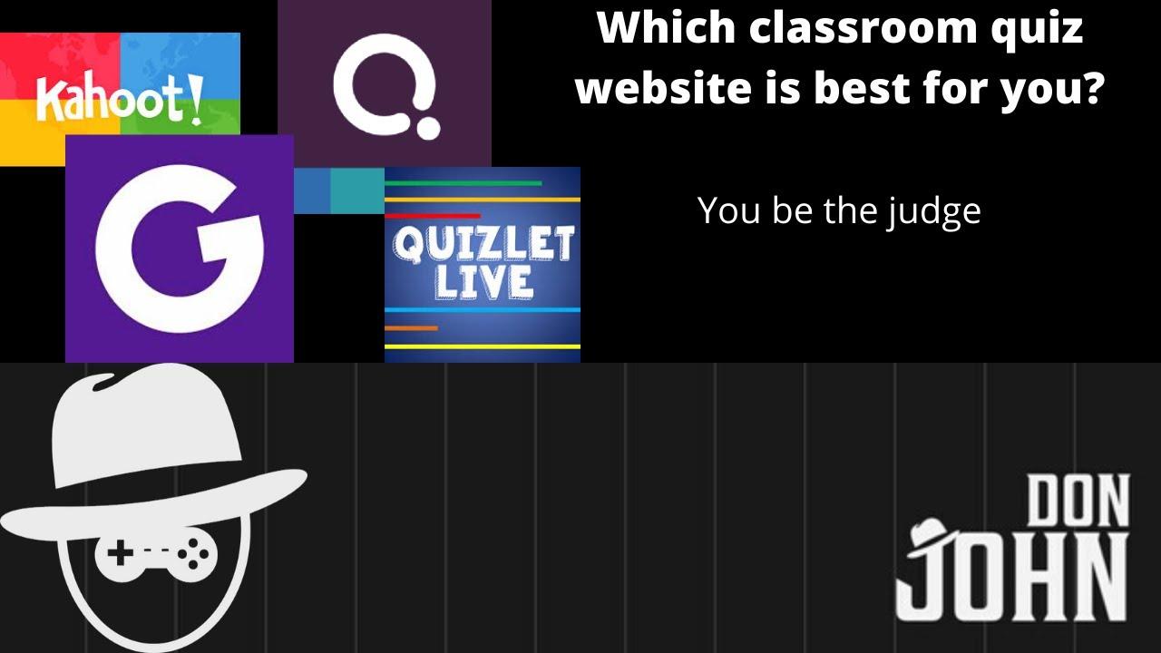 Kahoot!, Quizizz, Quizlet Live, or GimKit? - YouTube