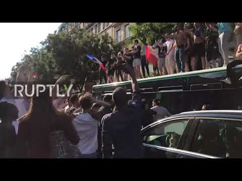 France: Party in Paris after quarter-final victory