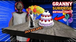 THROWING A SURPRISE BIRTHDAY PARTY FOR TINY GRANNY!!! (Jax Party) | Granny The Mobile Horror Game