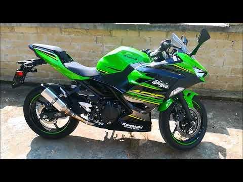 Kawasaki Ninja 400 2018 Original Exhaust Vs Fake Akrapovic Youtube
