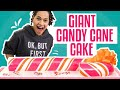 How To Make A GIANT CANDY CANE Cake w. SURPRISE INSIDE | PEPPERMINT MOCHA | How To Cake It