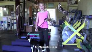 Jr Sit Means Sit Dog Trainer Shows How She Works With Puppy