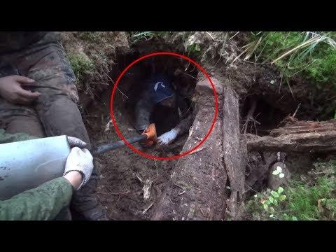 Нашли тайный бункер с минами в Карелии, коп с металлоискателем  // Юрий Гагарин