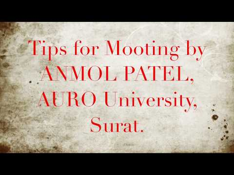Basic tips for a law student to prepare for Moot Court Competition.