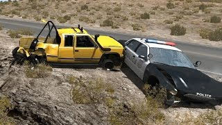 Police Chase Takedowns 7  - BeamNG.Drive Crashes