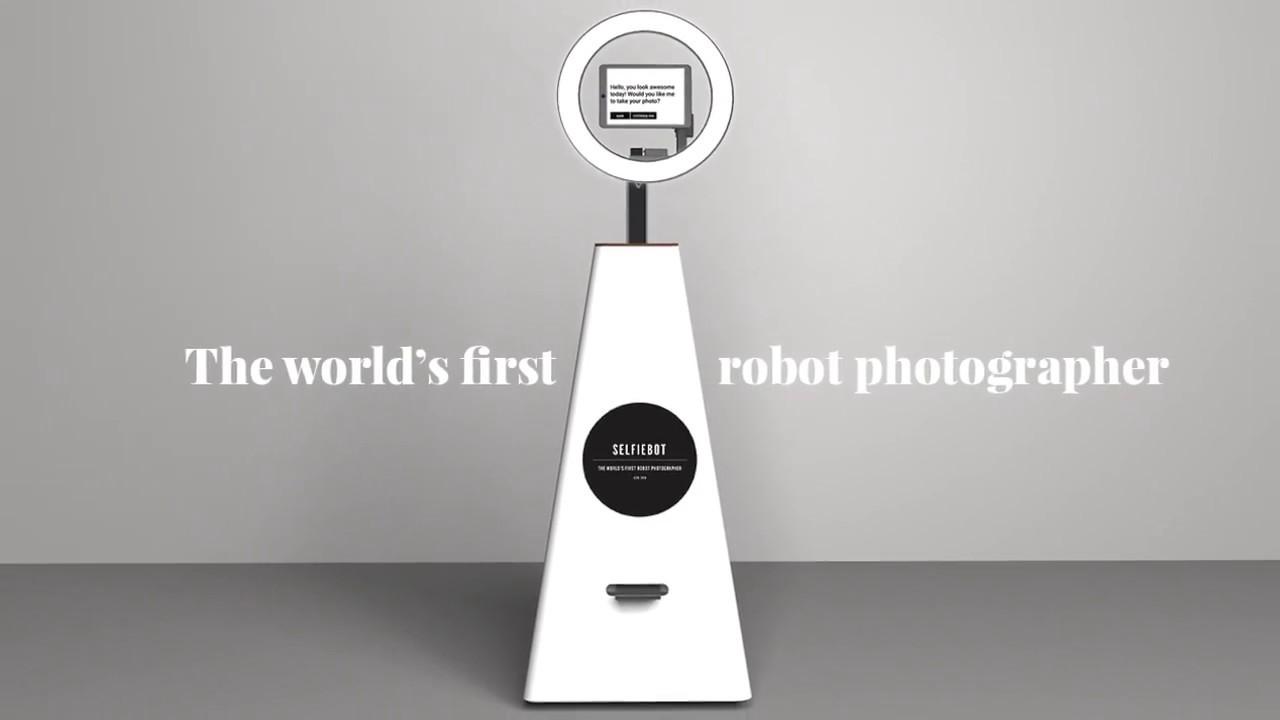 Image result for Dünyanın ilk robot fotoqrafı - Selfiebot