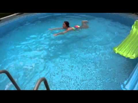 Intex 16 X 48 Metal Frame Pool Youtube