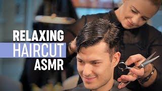 ASMR Relaxing Haircut Professional Scissor Cut Stress Relief