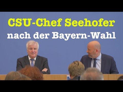 Bundesinnenminister Horst Seehofer (CSU) - Komplette BPK - 16. Oktober 2018