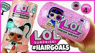 LOL Surprise Hairgoals vs LOL Surprise Under Wraps  Challenge LOL Surprise