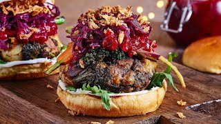 THE CHRISTMAS DINNER BURGER | made from LEFT OVERS. must watch!