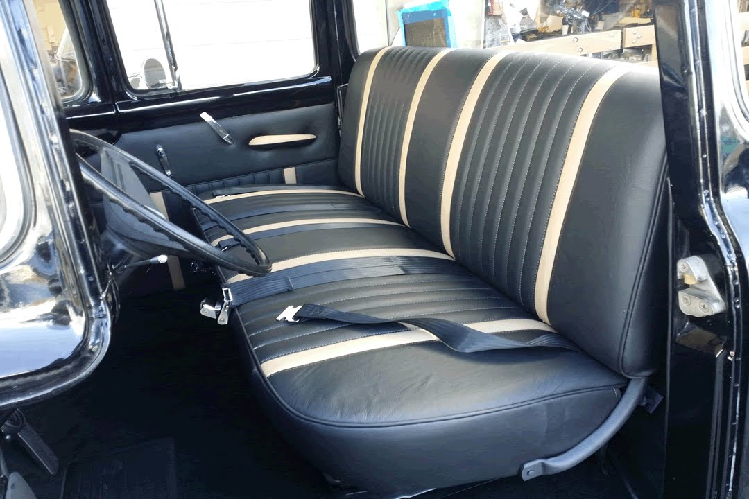 1956 Ford F 100 Classic Truck Leather And Vinyl Interior Youtube