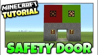 Minecraft Xbox - SAFETY DOOR [ TINY ] Redstone Tutorial - MCPE / PS4 / PS3 / Switch