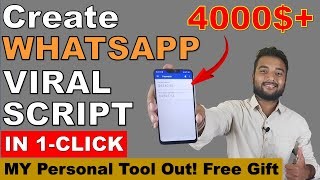How to Create Any WhatsApp Viral Script in 1 Click | Earn $4000+ from Adsense or Without Adsense