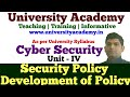 L20:Security Policies, Development of Policies, WWW Policies, Email Security Policies