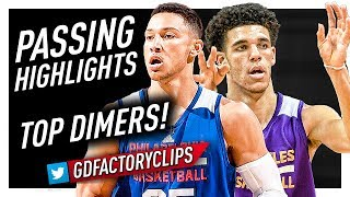 Lonzo Ball vs Ben Simmons CRAZY Offense Passing Highlights - AMAZING DIMES!