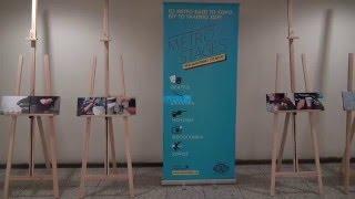 Выставка работ  греческих художников   и фотографов в афинском метро