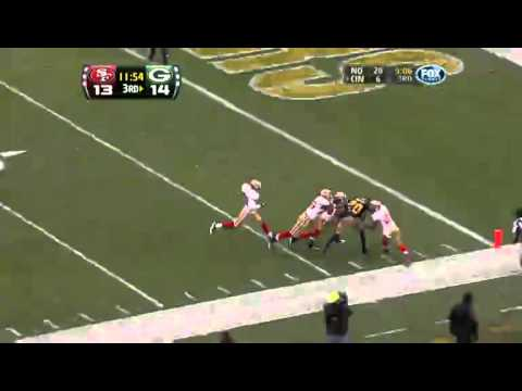 Donald Driver Breaks Several Tackles for Touchdown vs 49ers