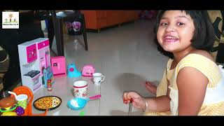 Cooking Cooking with mini kitchen - Aahana Kids Fun TV