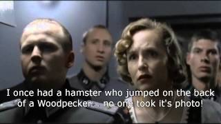 HITLER SEES A WEASEL RIDING ON THE BACK OF A WOODPECKER