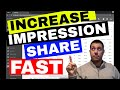 AdWords Impression Share Tutorial - 1 (Simple) Strategy To Increase Search Impression Share