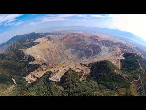 Bingham Canyon Mine, A.k.a. Kennecott Copper Mine (Bebop2 Drone Video)