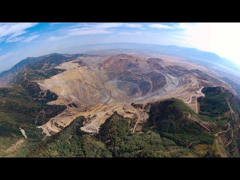 Bingham Canyon Mine, A.k.a. Kennecott Copper Mine (Bebop2 Drone Video)