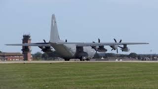 USAF C-130 Hercules - RAF Mildenhall [4K/UHD]