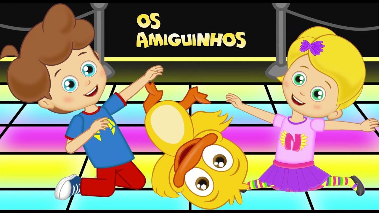 Vamos Dançar    Musica infantil   Desenho Animado com Os Amiguinhos