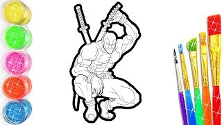 Deadpool Bumble Bee Coloring and Drawing for kids, toddlers, Learn Colors and Insects