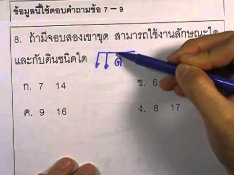 ข้อสอบO-NET ป.6 ปี2552 : การงานอาชีพ ข้อ7-9