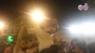 """ناخبون """"حدائق القبة"""" يحتفلون بوصول مرشحهم لجولة الإعادة بمجلس النواب"""