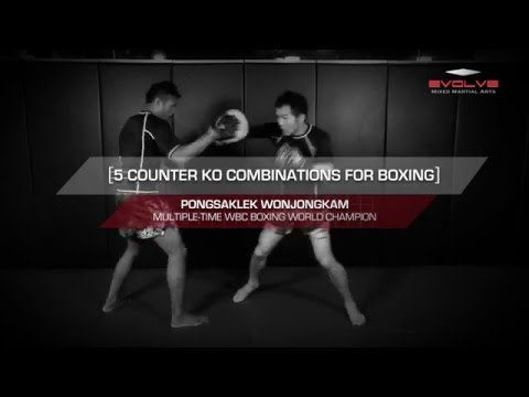 Boxing: WBC World Champion Pongsaklek Wonjongkam 5 Counter KO Combinations | Evolve University