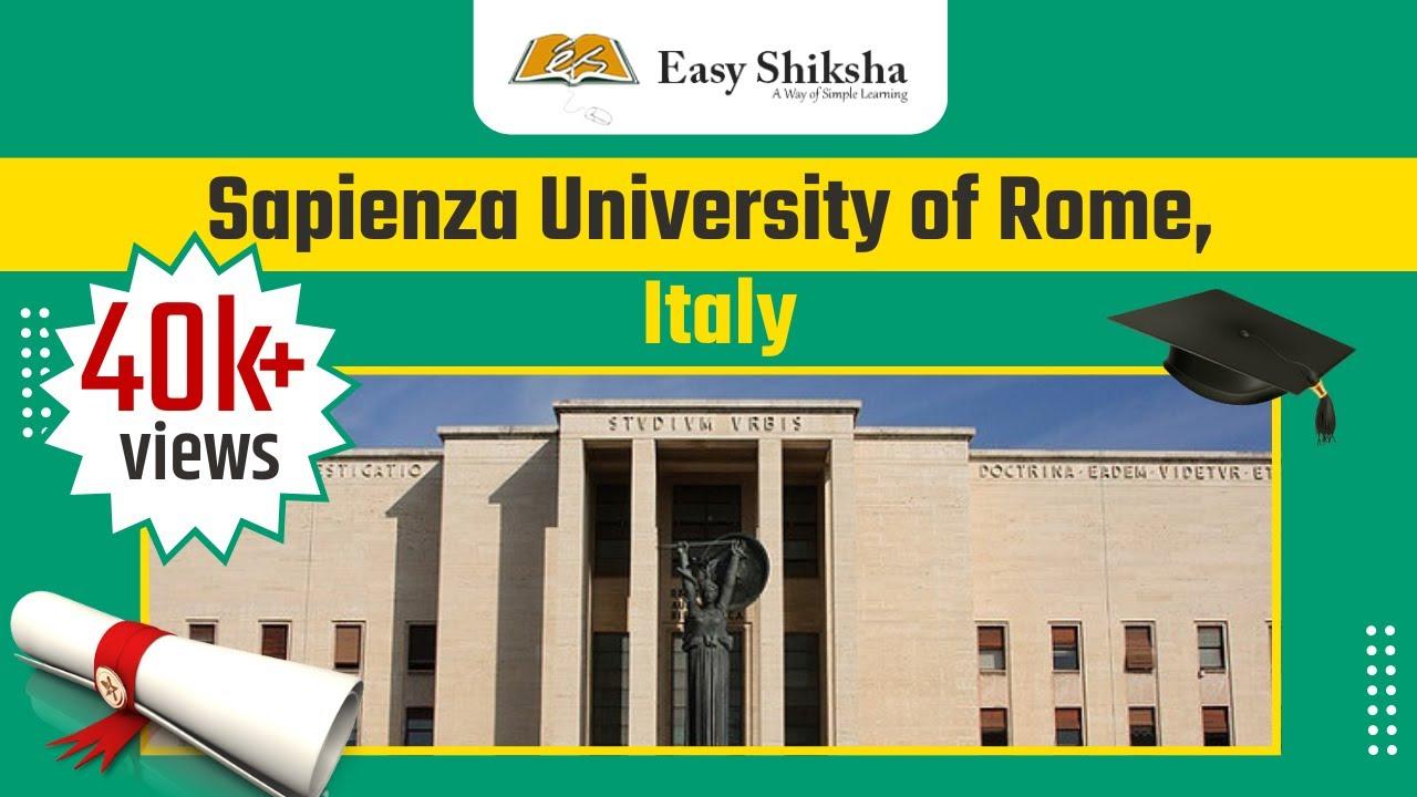 Sapienza University of Rome, Italy   Campus Tour   Ranking   Courses    Tuition Fees   Scholarships - YouTube