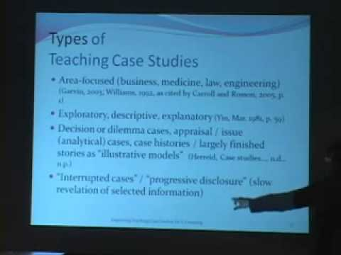 Deploying Teaching Case Studies for E-Learning