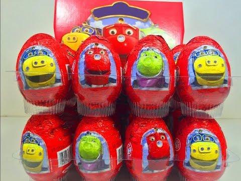 Киндер Яйца Сюрприз по мультику Чаггингтон,Unboxing Surprise Eggs Chuggington