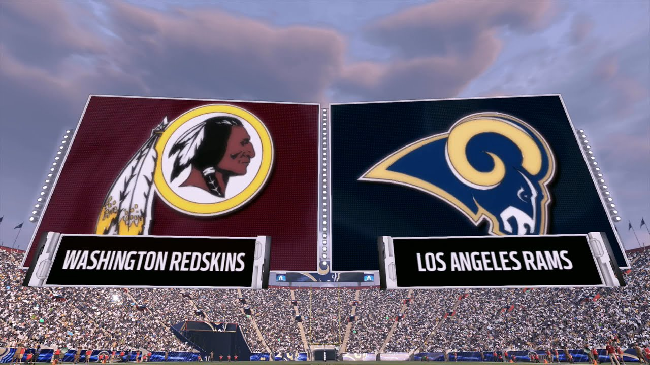 Image result for Washington Redskins vs. LA Rams