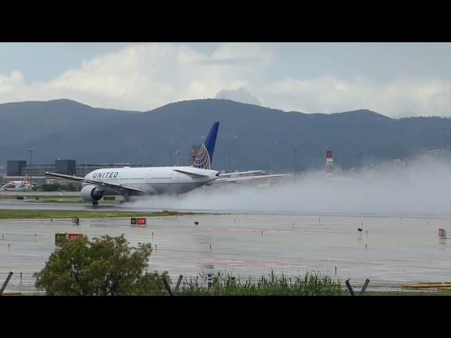 Matí de tempestes a l'aeroport del Prat - Maig 2018