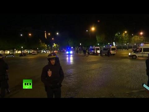 Paris : Les premières images après des coups de feu sur les Champs-Elysées