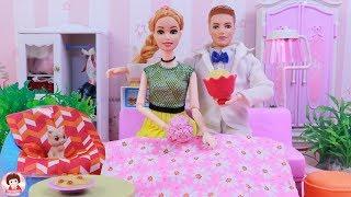 ละครบาร์บี้ ตอน ฉลองครบรอบเป็นแฟนกันของบาร์บี้ ตุ๊กตาบาร์บี้ รีวิวของเล่นบาร์บี้