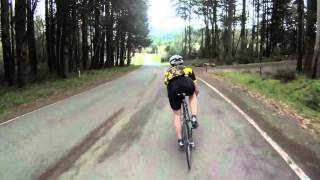 gopro camera: 60 mph (~100 km/h) on a road bike