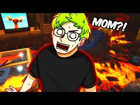 THE FLOOR IS LAVA! | Hot Lava (THE FLOOR IS LAVA CHALLENGE GAME) thumbnail