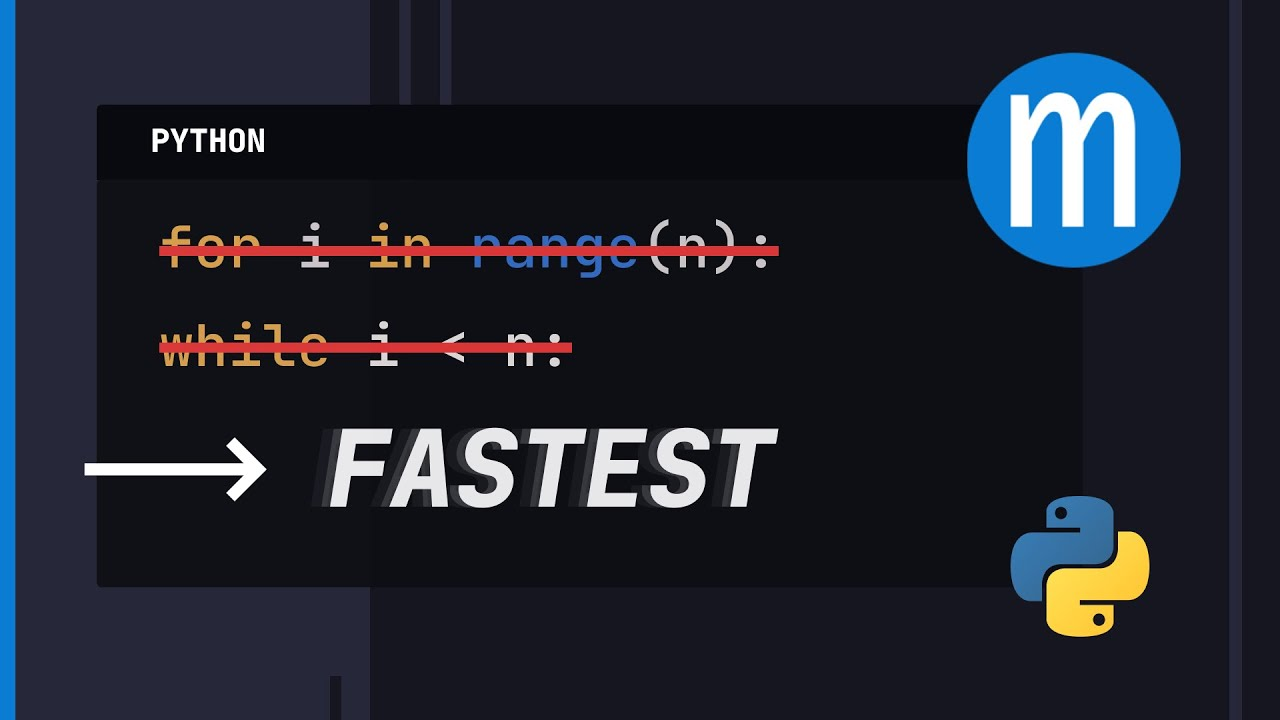The Fastest Way to Loop in Python - An Unfortunate Truth