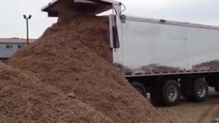 Trout River Shuttle Floor Unloads Woodchips