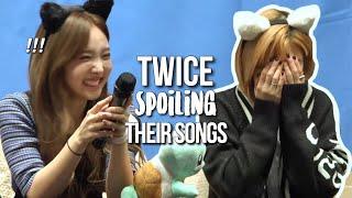 TWICE spoiling their comebacks