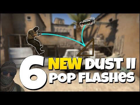 6 NEW DUST II POP FLASHES - CS:GO Dust 2 Useful Pop Flash Guide